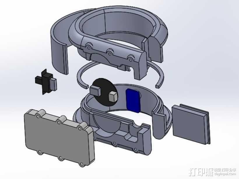 DAZZLER发光手镯 3D模型  图8