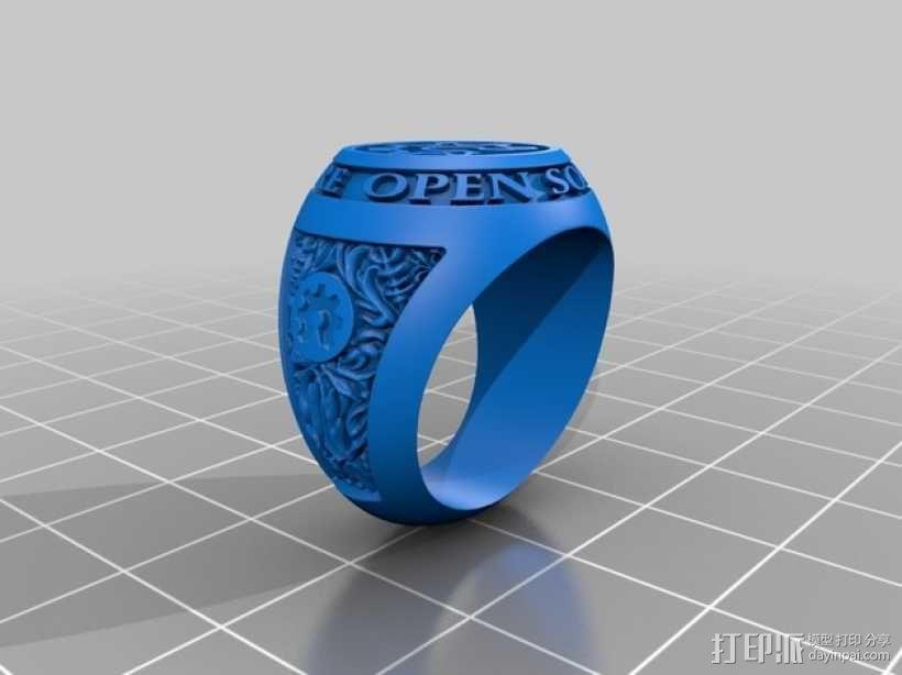 个性化开源戒指 3D模型  图1