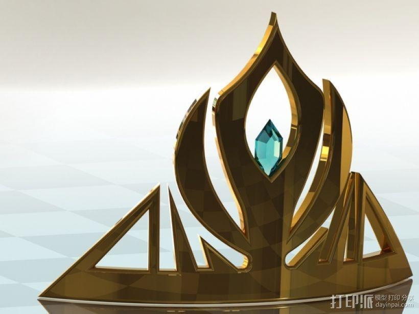 冰雪奇缘:埃尔莎皇冠头饰 3D模型  图3