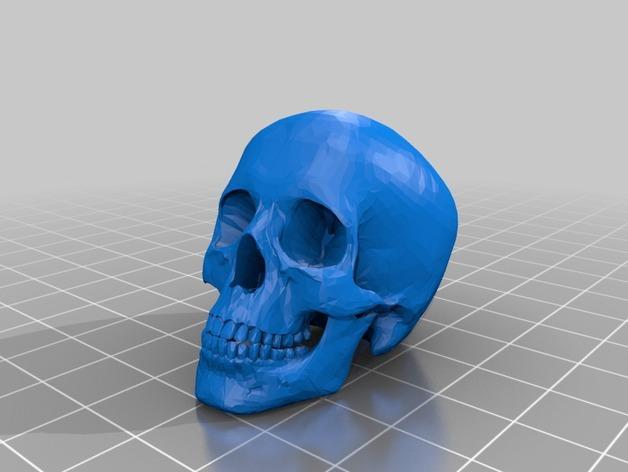 会发光的骷髅戒指 3D模型  图3