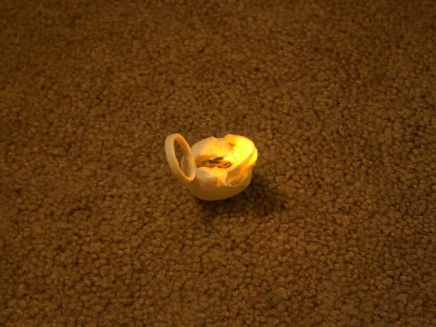 会发光的骷髅戒指 3D模型  图10