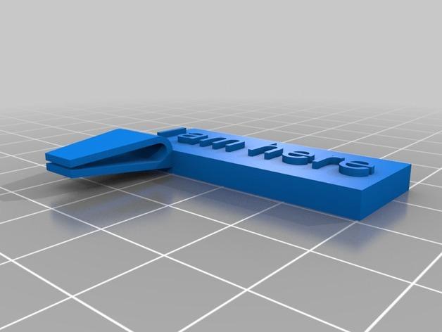定制化书夹/书签 3D模型  图3