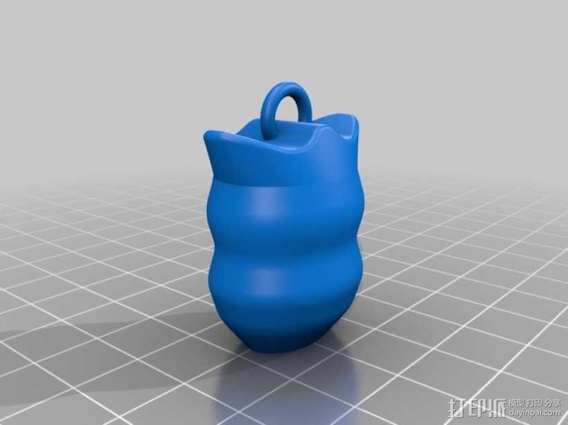 猫头鹰钥匙扣 3D模型  图2