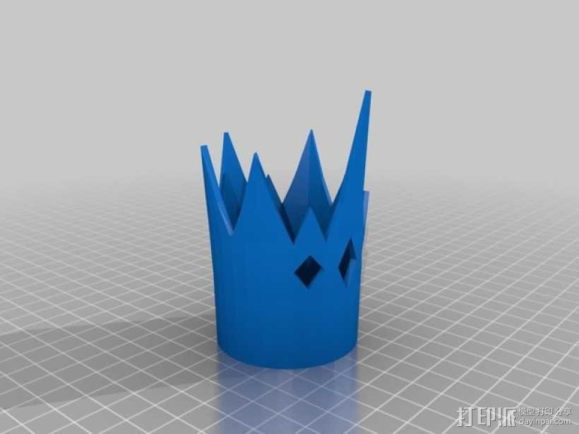 《童话高中:青蛙王子的儿子》:迷你王冠 3D模型  图3