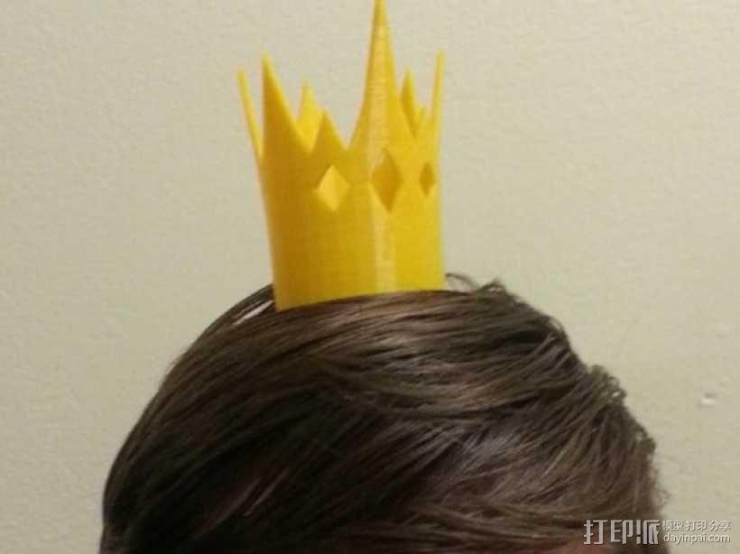 《童话高中:青蛙王子的儿子》:迷你王冠 3D模型  图1