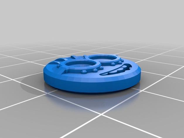 小黄人衬衣纽扣 3D模型  图2