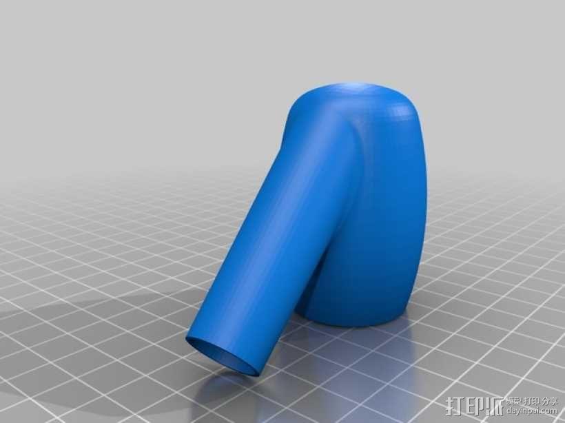 朋克风电子烟烟斗 3D模型  图2