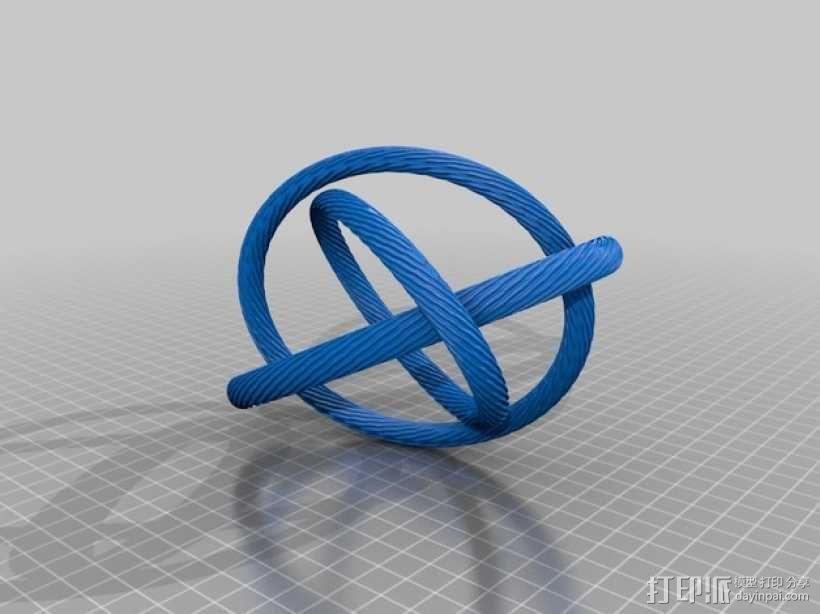 Borromean手环 3D模型  图2