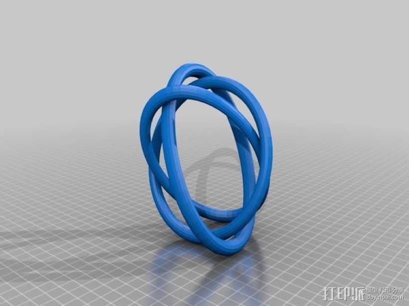 Borromean手环 3D模型  图3