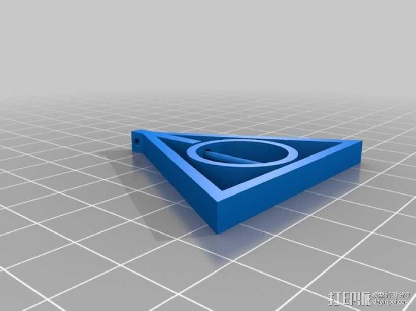 《哈利波特》:死亡神器之吊坠 3D模型  图2