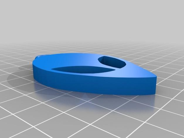 火星人钥匙扣 3D模型  图2