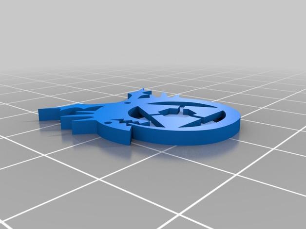 动漫《钢之炼金术师》怀表钥匙扣 3D模型  图3