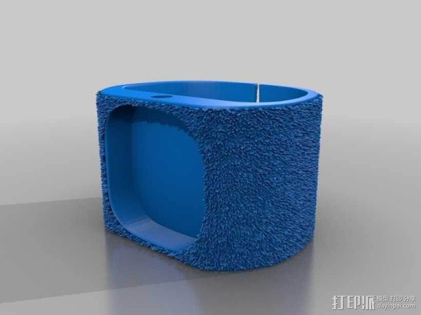 灵活绒毛手表 3D模型  图2