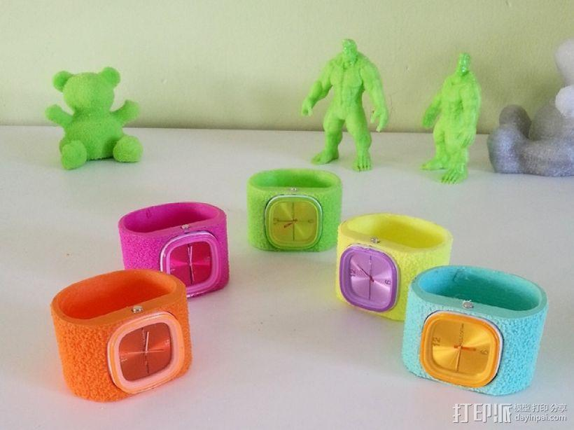 灵活绒毛手表 3D模型  图1