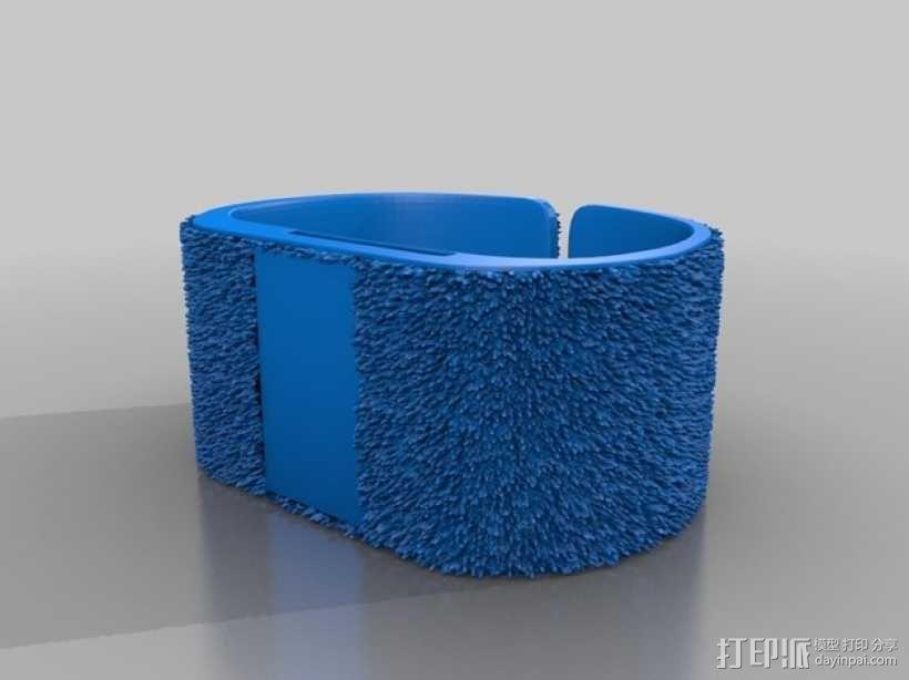 灵活绒毛手表 3D模型  图3