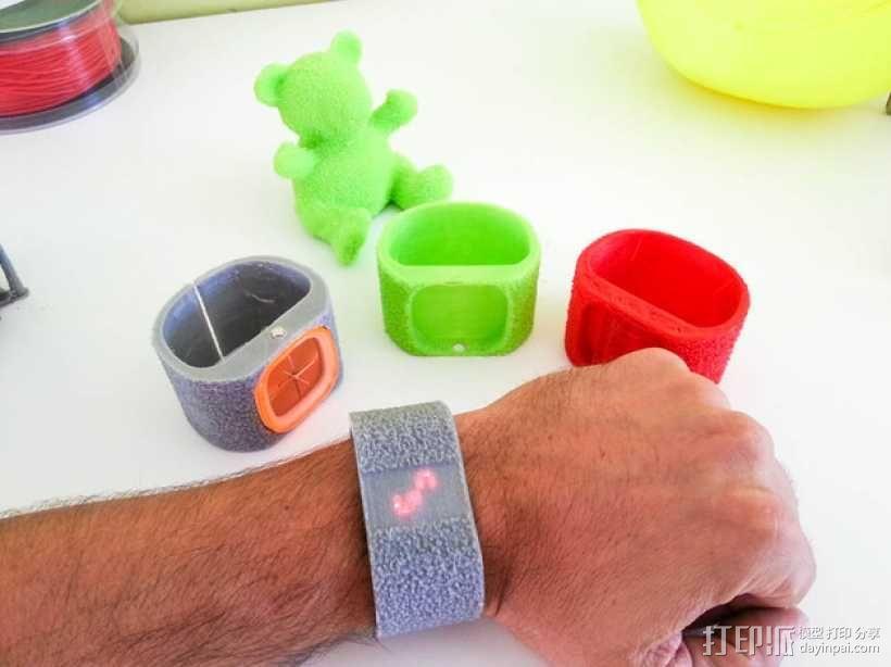灵活绒毛手表 3D模型  图8
