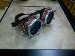 朋克风六边形护目镜 3D模型