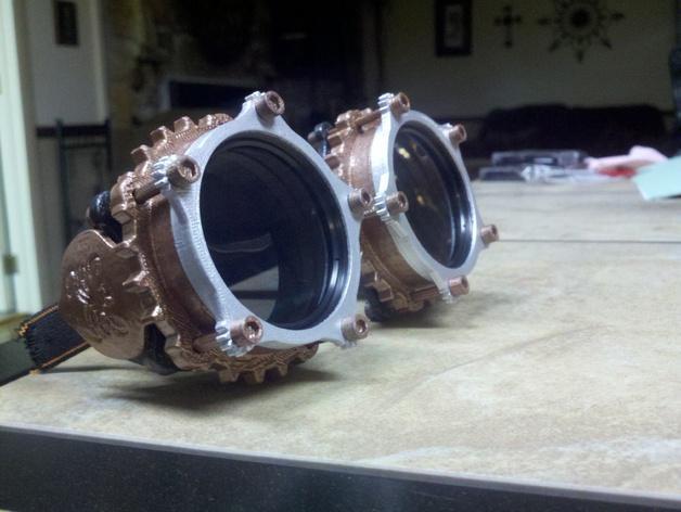 朋克风六边形护目镜 3D模型  图4