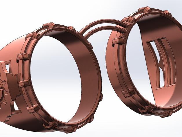 朋克风齿轮护目镜 3D模型  图4