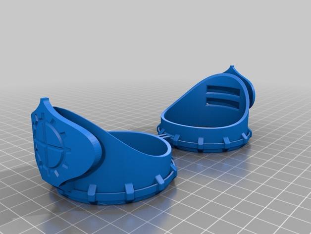 朋克风齿轮护目镜 3D模型  图5