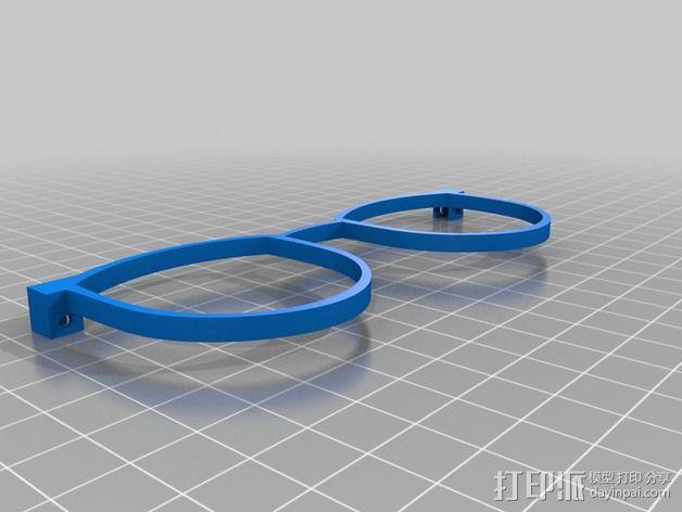 轻薄眼镜框/墨镜框 3D模型  图2