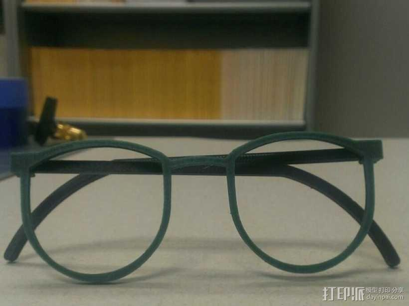 轻薄眼镜框/墨镜框 3D模型  图1
