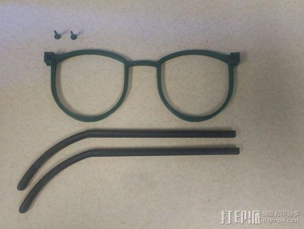 轻薄眼镜框/墨镜框 3D模型  图5