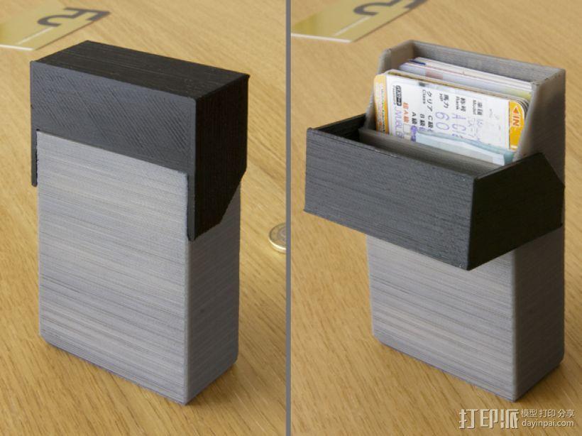简洁方形钱包 3D模型  图1