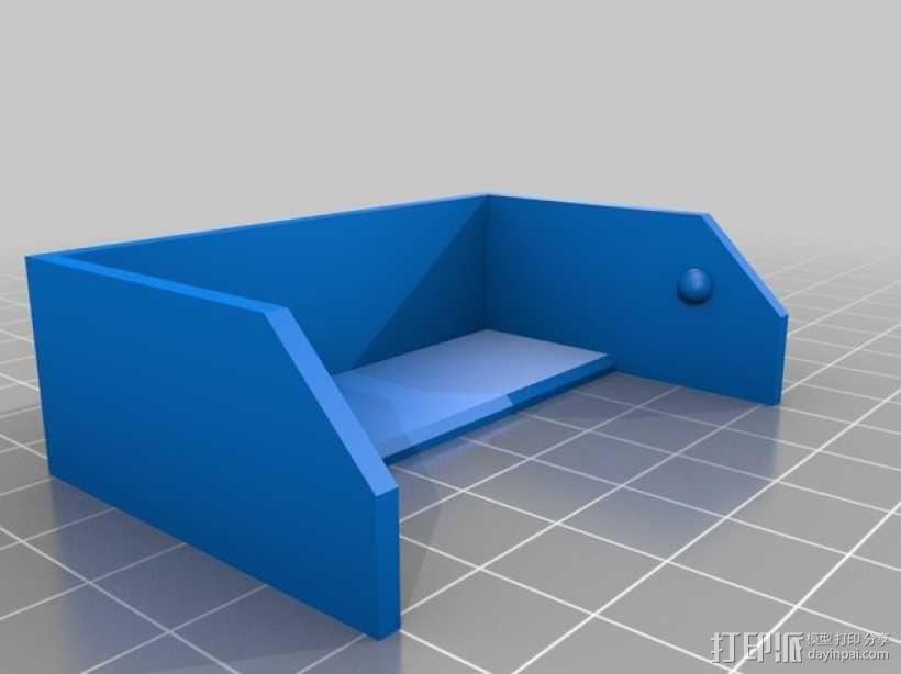 简洁方形钱包 3D模型  图2