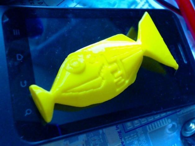 宝贝鱼耳塞 3D模型  图3