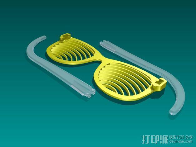 太阳镜/墨镜 3D模型  图4