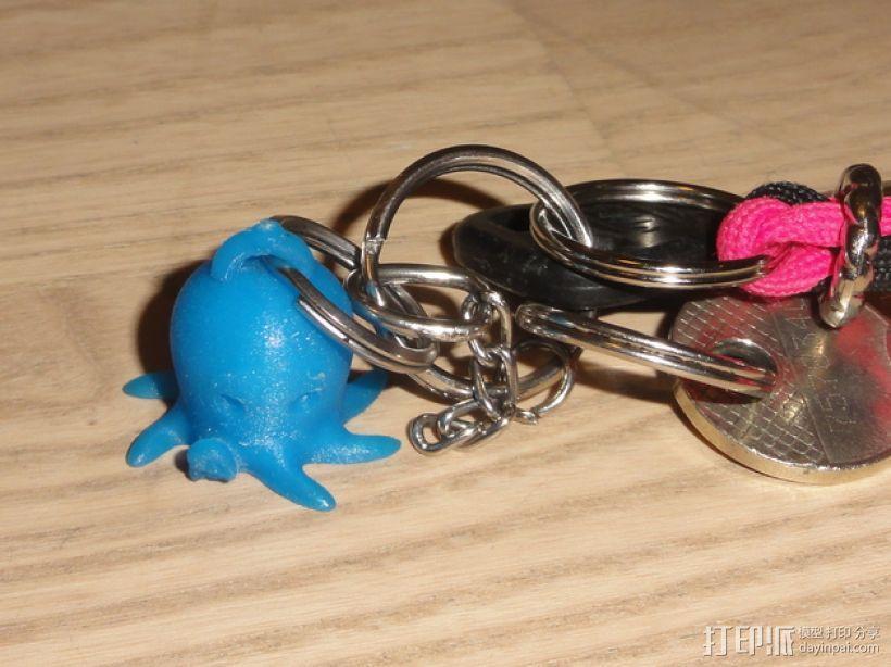 迷你章鱼钥匙扣 3D模型  图1