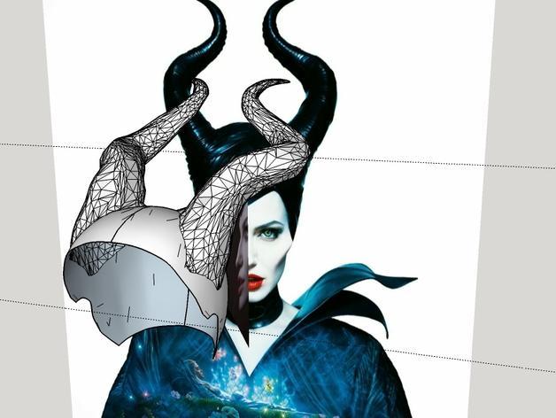 电影《沉睡魔咒》玛琳菲森的角 3D模型  图8