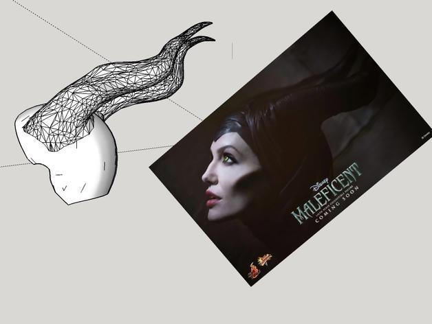 电影《沉睡魔咒》玛琳菲森的角 3D模型  图9