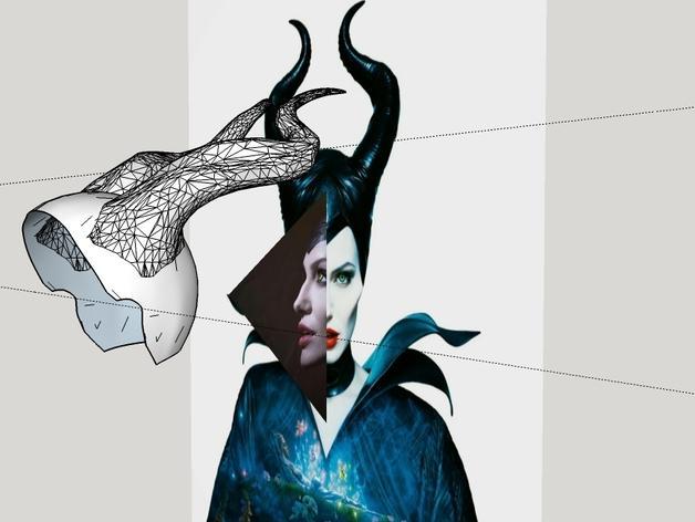 电影《沉睡魔咒》玛琳菲森的角 3D模型  图10