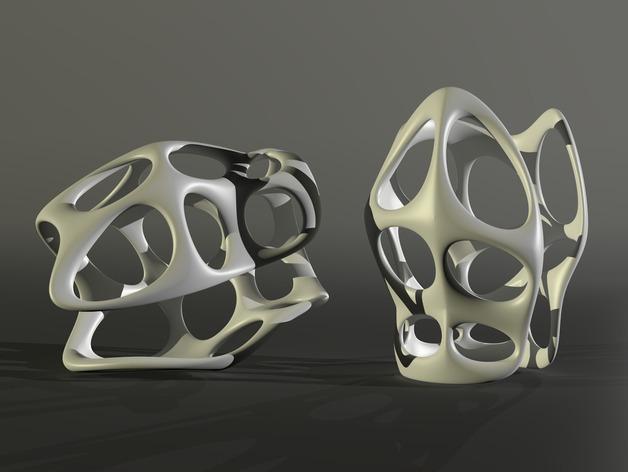 镂空手镯 3D模型  图1
