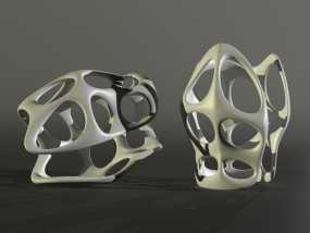 镂空手镯 3D模型