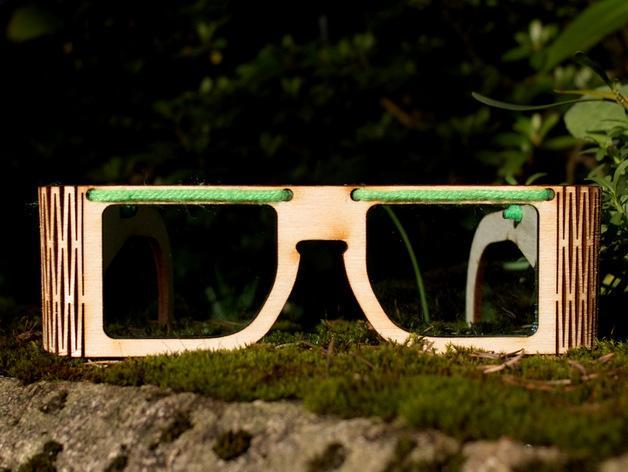 木质眼镜框 3D模型  图2