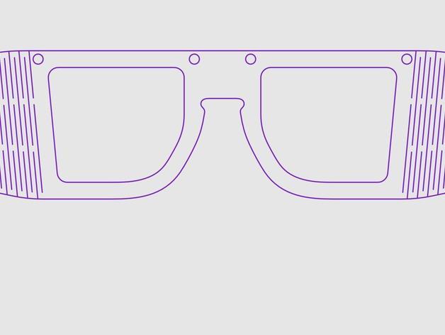 木质眼镜框 3D模型  图6