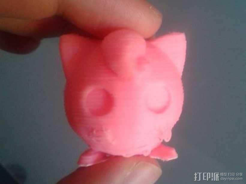 神奇宝贝:胖丁 3D模型  图1