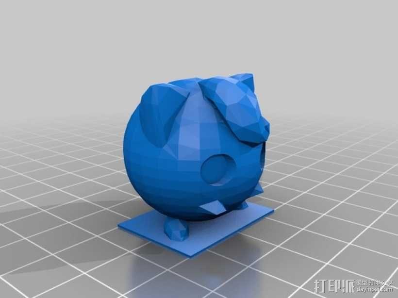 神奇宝贝:胖丁 3D模型  图2