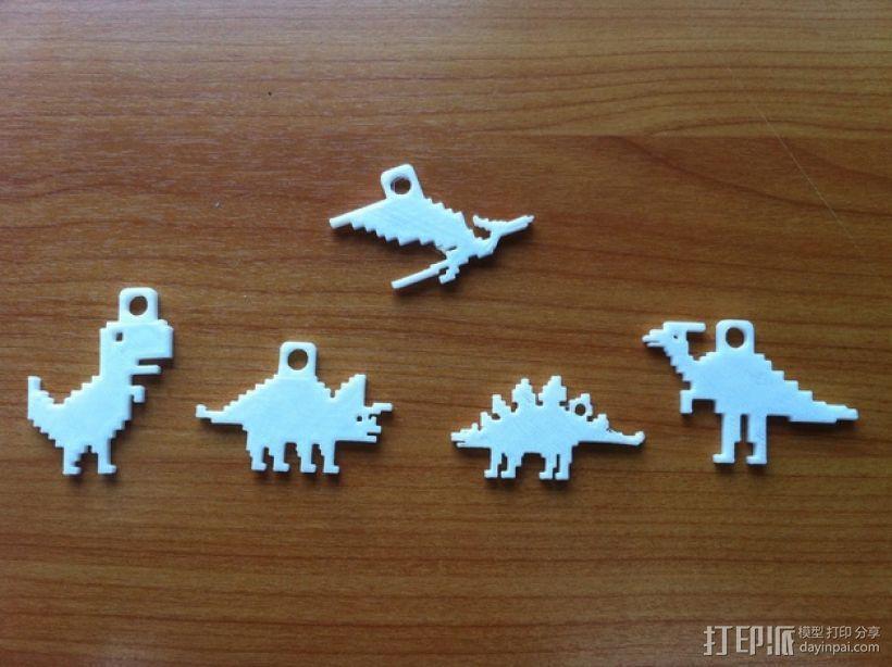 恐龙钥匙扣 3D模型  图1