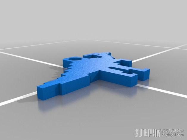 恐龙钥匙扣 3D模型  图5