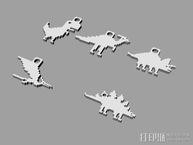恐龙钥匙扣 3D模型  图4