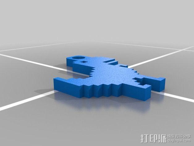 恐龙钥匙扣 3D模型  图6