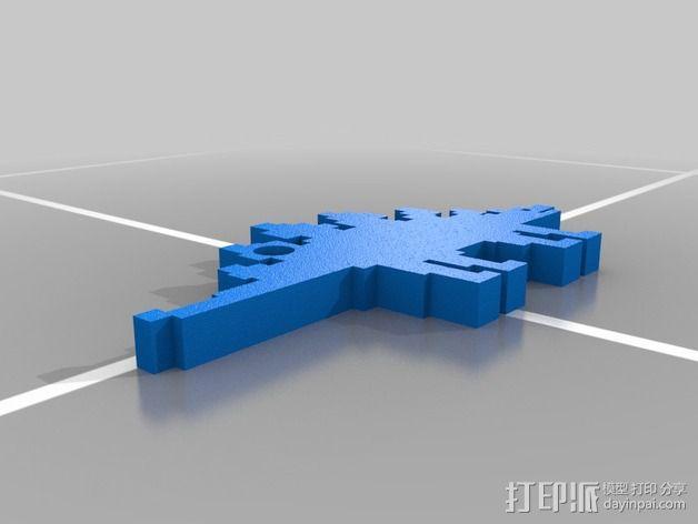 恐龙钥匙扣 3D模型  图8