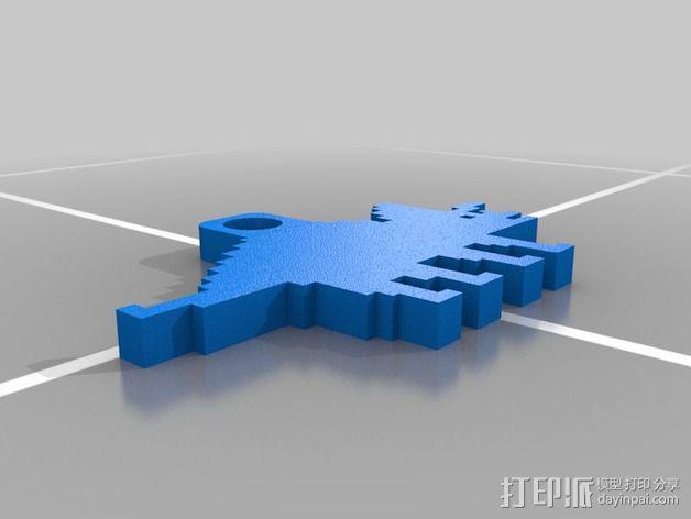 恐龙钥匙扣 3D模型  图9