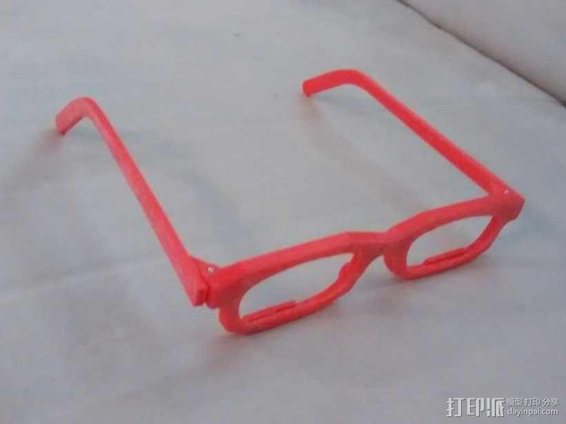 眼镜框 3D模型  图1