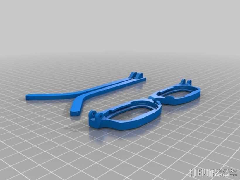 眼镜框 3D模型  图2