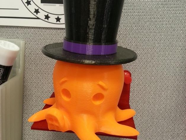 Octo章鱼大礼帽 3D模型  图2